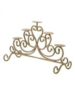 Antiqued Scrollwork Pillar 5-Candle Stand - $35.82