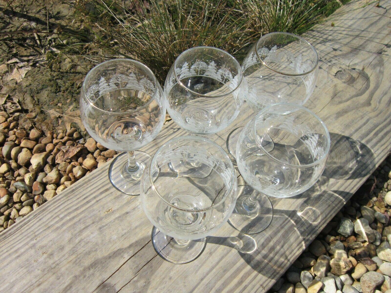 Arby's Winter Goblets, Set of 5 Vintage 1980s Wine Glasses image 3