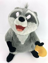 Disney Pocahontas Meeko Raccoon Posable Arms Plush Stuffed Animal Biscui... - $29.69