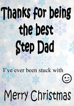 Thank you for being the Best Step dad stuck with Christmas card codeds xmas - $3.87