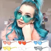 New Women Sunglasses Heart Shaped Cat Eye Candy Fashion Design Ladies Su... - $12.72