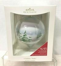 2008 Holiday Ball A Holiday Hello  Hallmark Christmas Tree Ornament MIB - $14.36