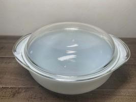 Pyrex 11/2 QT #023 White bowl with lid #683-C 8 - $19.95