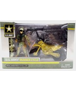 U.S. Army Runner Cycle Soldier 3.75in Action Figure Gear Playset Officia... - $15.99