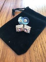 Vintage Gold Crystal Earrings Ships N 24h - $35.87