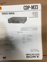 Sony CDP-M33 Service Manual *Original* - $8.60