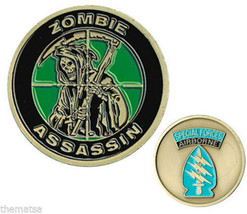 Army Special Forces Airborne Zombie Assassian Military Challenge Coin - $27.07