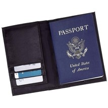 New Black Leather US Passport Cover ID Holder Wallet Credit Card Travel ... - $5.15