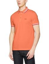 New Hugo Boss Pique Orange Cotton Men's Paddy Polo Shirt T-shirt 50302557 - $74.99