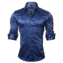 2018 New Fashion Autumn and Winter Men's Printed Casual Shirt Men Long Sleeve To - $46.72