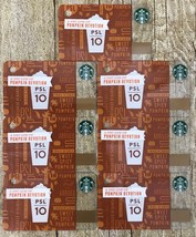 Starbucks Gift Cards Lot Mini Gift Tag Key Chain NEW Fall 2013 - PSL 10 years - $24.74