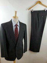 Haggar Imperial Gentlemen's Fit 38S Men's 2 Pc 2 But Gray PinStripe Suit... - $43.54