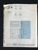 Vintage 1980s Vogue Paris Original Adele Simpson Pattern Faux Wrap Dress Uncut image 2