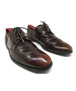 John Varvatos USA Mens Brown Distressed Leather Wingtip Derbys Size US 8... - $87.22