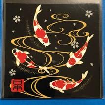 "F/S Beautiful Japan Sticker Japanese Nishiki Goi Gorgeous Carp 2.95"" - $4.75"