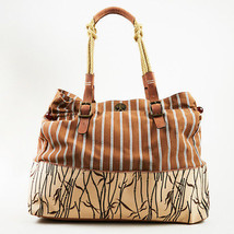 Marni NWOT Multicolor Canvas  amp  Leather Large Striped   quot Dicigenza quot  ... 2f0091d375dd6