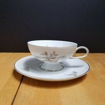 Rosenthal Continental Colonial Rose China Cup & Saucer Plate Pink Beige Roses  - $4.94