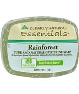 2 (TWO) CLEARLY NATURAL Glycerine Bar Soap Rain... - $8.57