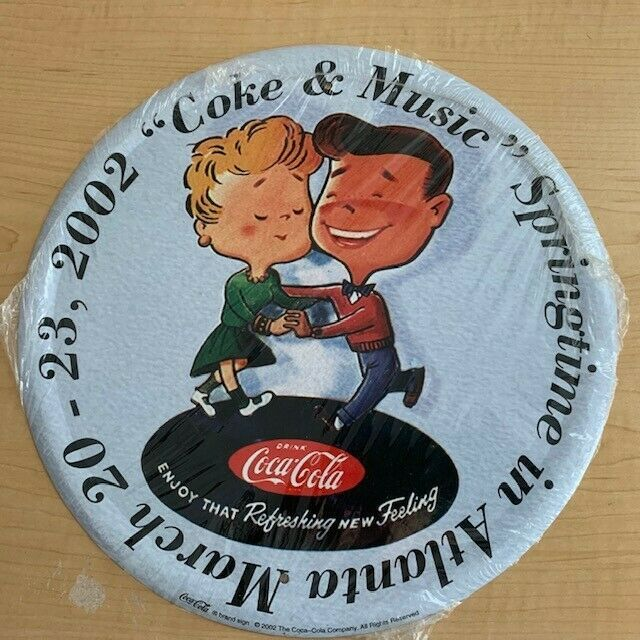 "Primary image for 2002 Coke & Music Springtime in Atlanta Tin Serving Tray - 12"" Round"