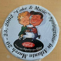 "2002 Coke & Music Springtime in Atlanta Tin Serving Tray - 12"" Round - $9.90"