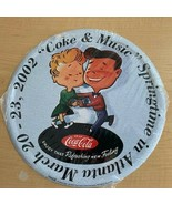 "2002 Coke & Music Springtime in Atlanta Tin Serving Tray - 12"" Round - $9.90"
