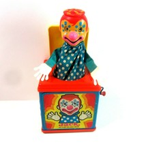Vintage 1976 Mattel Jack in the Box Musical Wind Up Toy with Pop Up Clown  - $14.99