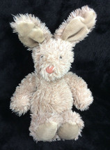 Jellycat Bunny Rabbit Brown Busby Furry Plush Furry Pink Nose Stuffed An... - $33.85