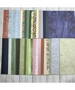 "Lot 80 8"" x 12"" Scrapbook Paper Card Stock 2 each Plaid Stripes Patterned   - $13.85"