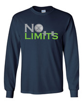 NO LIMITS Workout Bar Bells Lifting Body Building LONG Sleeve Men's T Sh... - $14.95+