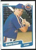 1990 Fleer Baseball-#218-Mackey Sasser-Mets-Catcher - $4.44