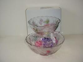 WP&G Fruit Delight Crystal Serving Bowl - $9.85