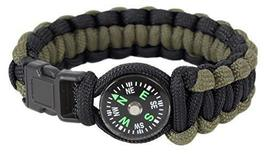 Rothco Paracord Compass Bracelet OD/Black 8 Inches - $7.42