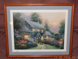 "Thomas Kinkade ""Julianne's Cottage"" Signed & Numbered Print 186/980 Ligh... - $467.50"
