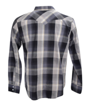 NEW LEVI'S MEN'S CLASSIC COTTON BUTTON UP LONG SLEEVE PLAID SHIRT CHARCOAL-6092 image 2