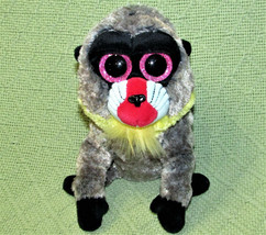 "TY BEANIE BOOS WASABI BABOON STUFFED ANIMAL 6"" PLUSH SPARKLY PINK EYES TOY - $9.90"