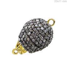 Vintage 11.60Ct Pave Diamond Connector 925 Sterling Silver Finding Jewel... - $364.65