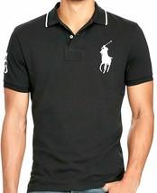 Polo Ralph Lauren Mens Black Short Sleeve Mesh Big Pony Polo Shirt  2XLT 8715-1M - $50.48