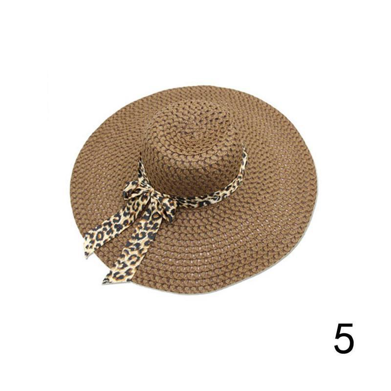 2019 Women Sunscreen Beach Hat Elegant Lady Derby Cap Anti-UV Wide Brim Floppy F image 5