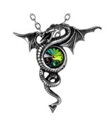 Anguis Aeternus Dragon of Eternity Colorful Crystal Pendant Alchemy Gothic P346 - $34.95