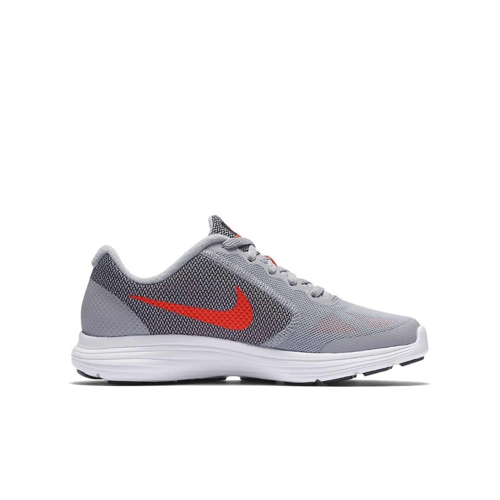 big sale c1cab adaa7 New boys Nike sneakers youth 7 Revolution 3 Gray Orange 819413 athletic  shoes
