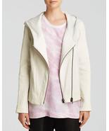 Helmut Lang Women's White Jacket - Wither Hooded Combo Leather S - $449.99