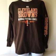 Cleveland Browns NFL Team Apparel Mens Shirt Medium Brown Long Sleeve - $14.84