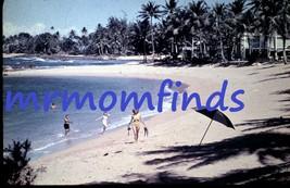 Vtg 35mm Sllide Nov/1962 Plastichrome ~ Beachfront Dorado Beach, Puerto ... - $9.89