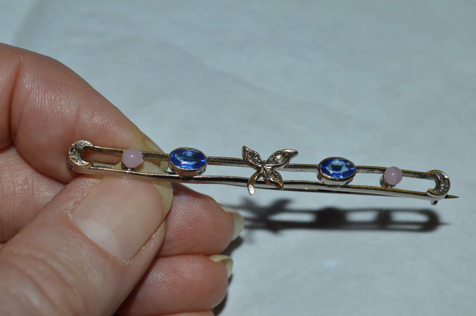 2906798ef Antique Victorian Silver Bar Pin Brooch-Rose and 50 similar items