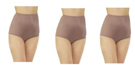 3 Vanity Fair Walnut Nylon Brief 15712 Panty Size  5 6 7 8 9 10 11 12 NWT - $19.95