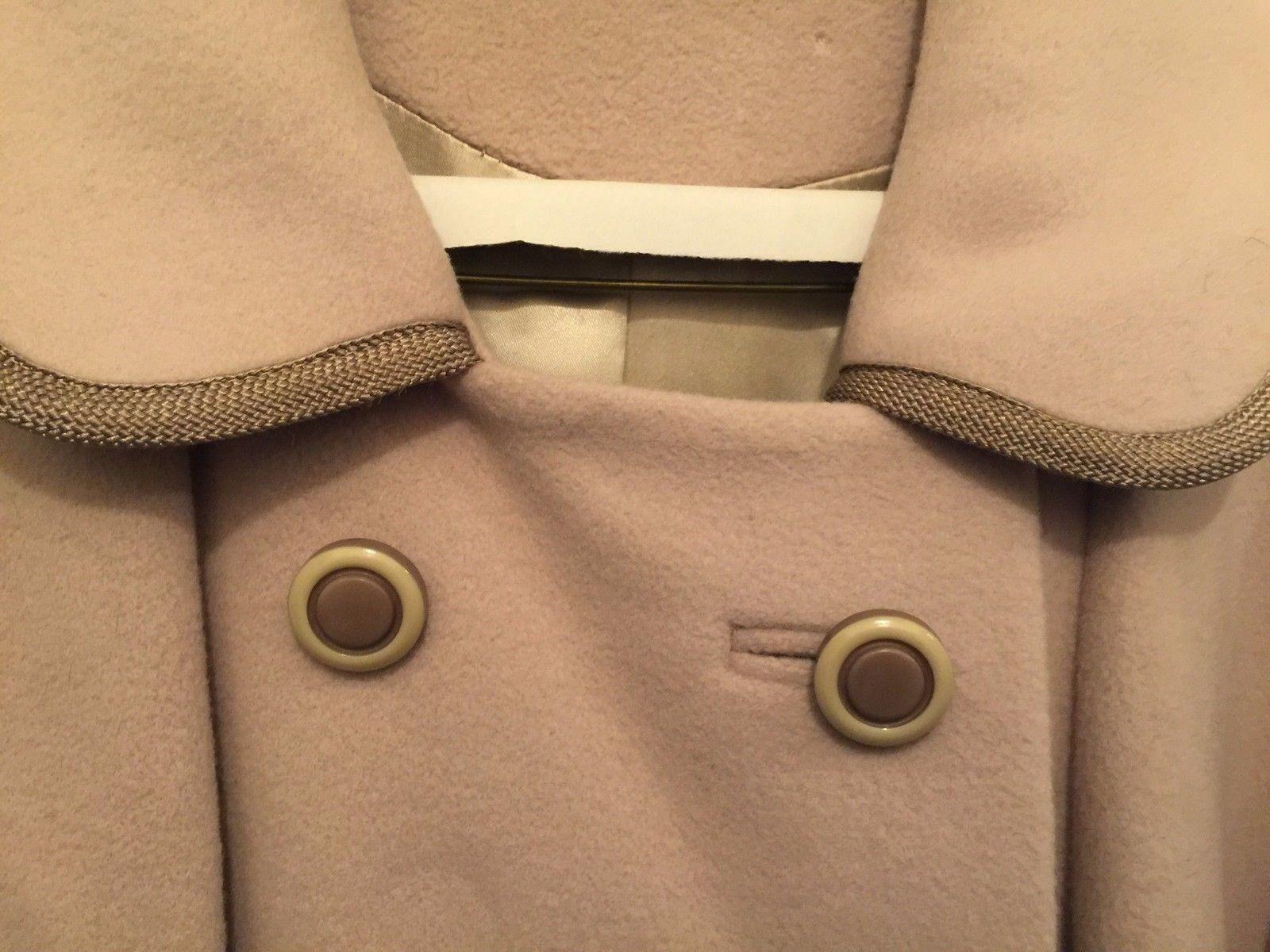 Vintage 100% Luxurious Cashmere Ladies Coat Tan or Cream Color -