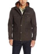 Tommy Hilfiger Men Brown Wool Four Pocket Technical Military Jacket Coat... - $95.99