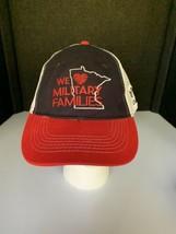 We ❤️ Love Military Families black red white USAA mesh baseball trucker hat - $9.89