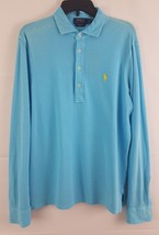 Polo Ralph Lauren Men's Long-Sleeve Mesh Polo Shirt French Turquoise Green M - $36.62