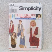 Full Figure Solutions Sewing Pattern From [ Simplicity ] Pattern # 7296 Size Gg - $9.36